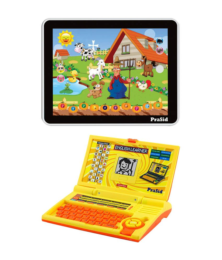 Prasid Combo Of English Learner Kids Laptop & Large Old MacDonald Farm