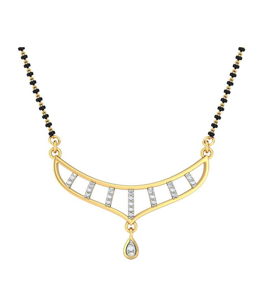 Bluestone 18Kt Yellow Gold & Diamond Amirana Tanmaniya
