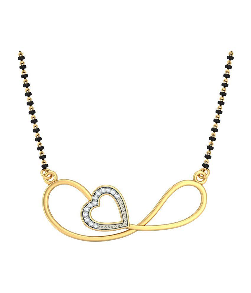 Bluestone 18Kt Yellow Gold & Diamond Jayashri Tanmaniya