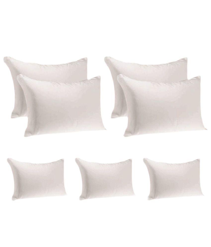 JDX White Hollow Fiber Pillows - Set Of 7