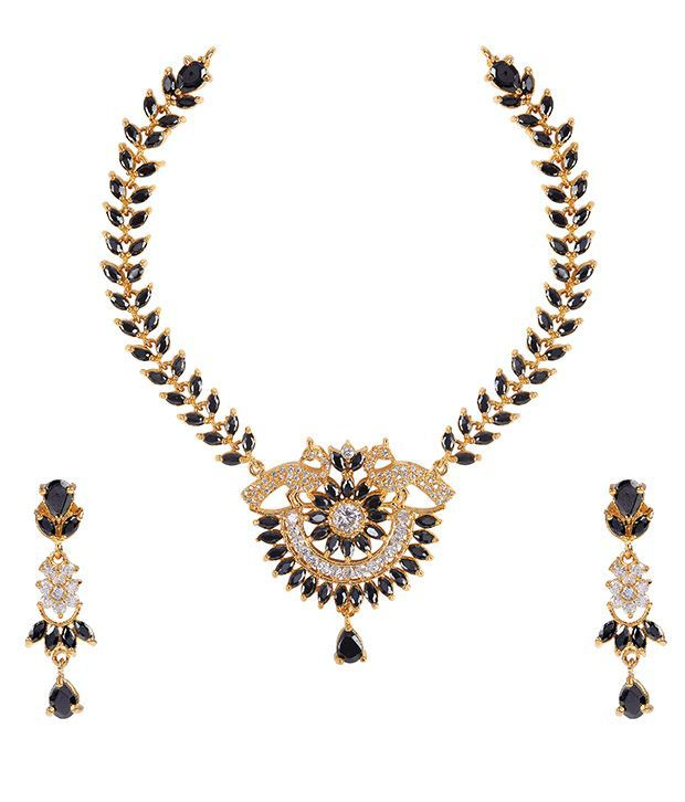Makezak Black Brass Necklace Set
