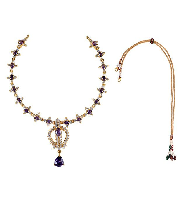 Makezak Purple Brass Necklace Set