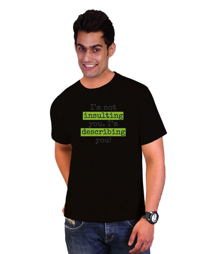 Wicked Bite Black Cotton Printed Men's T-Shirt