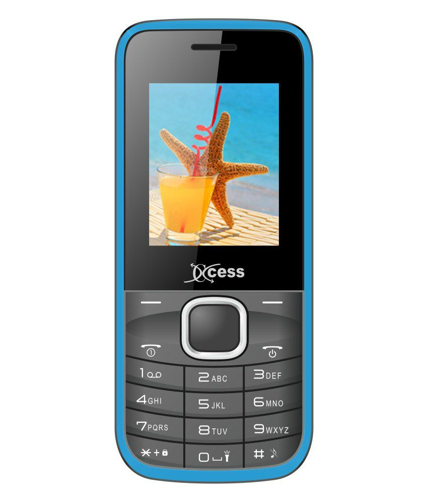 Xccess Gem S Blue Gsm+ Gsm Dual Sim Feature Phone