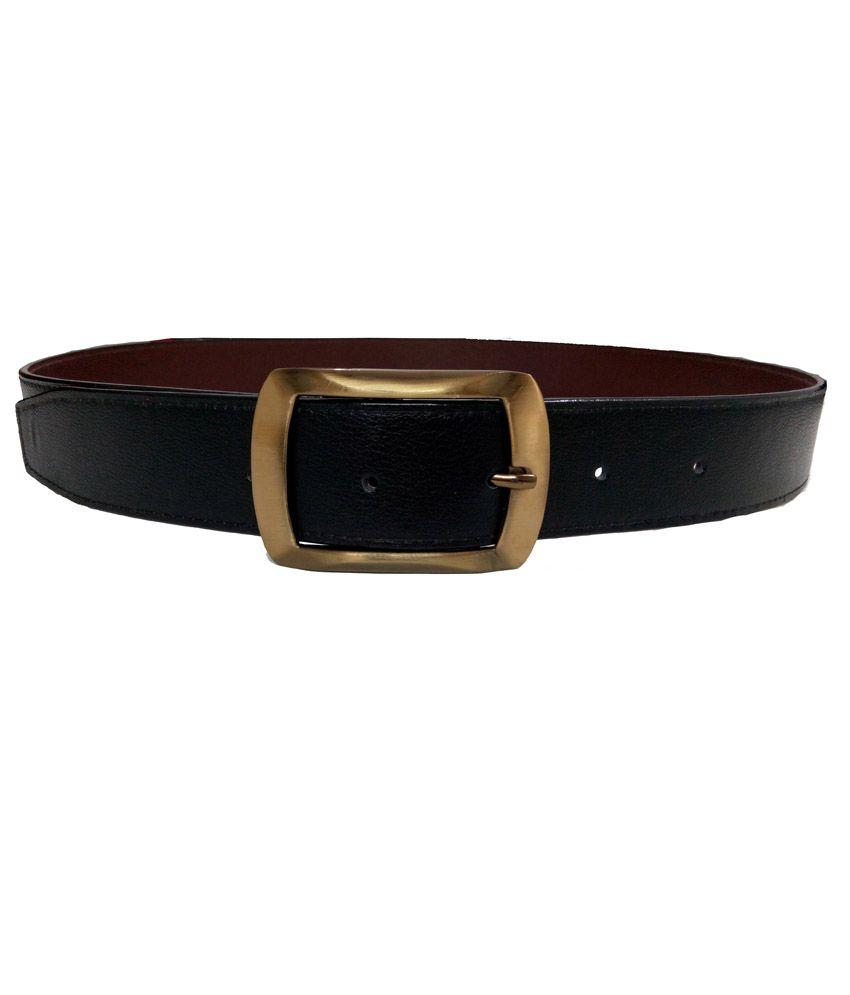 Ali World Black Casual Belt For Men