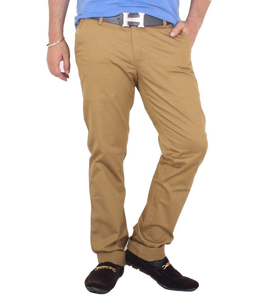 Kartstring Beige Regular Fit Jeans
