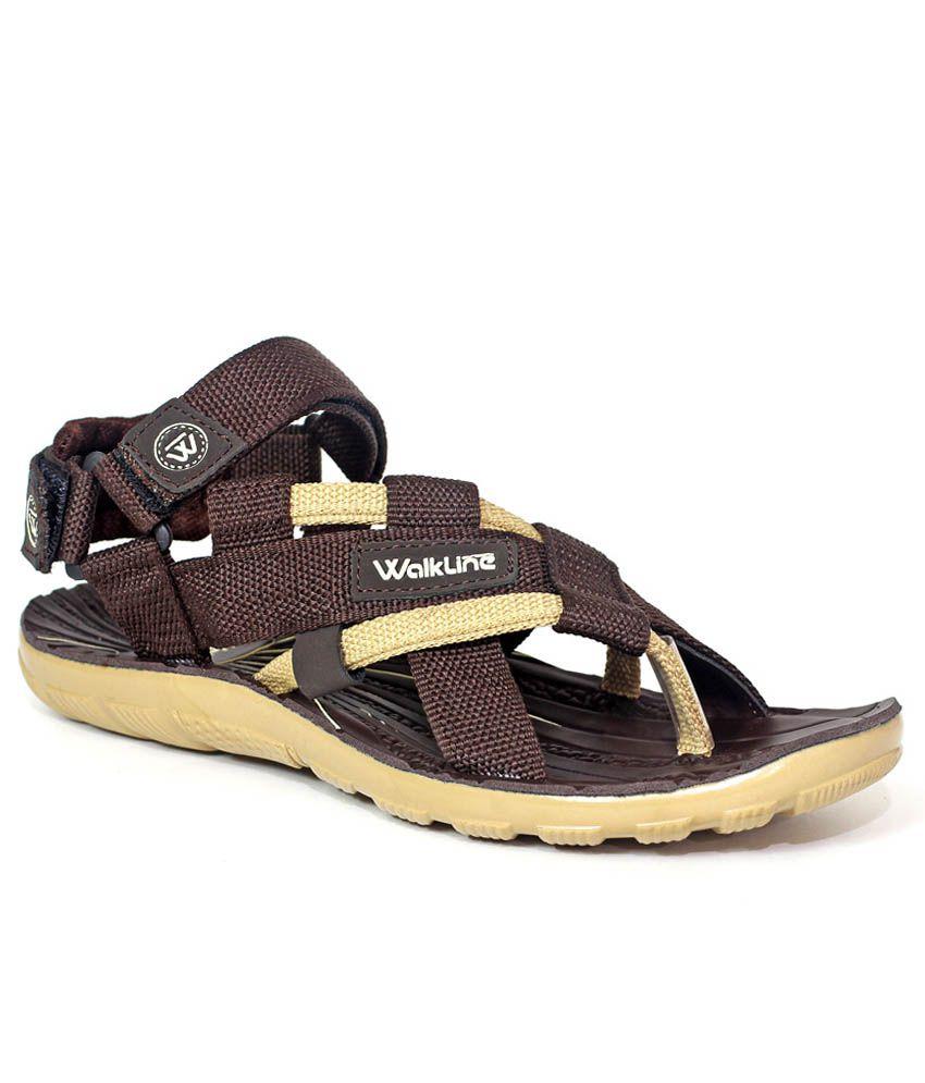 Walkline Brown Sandals - Buy Walkline