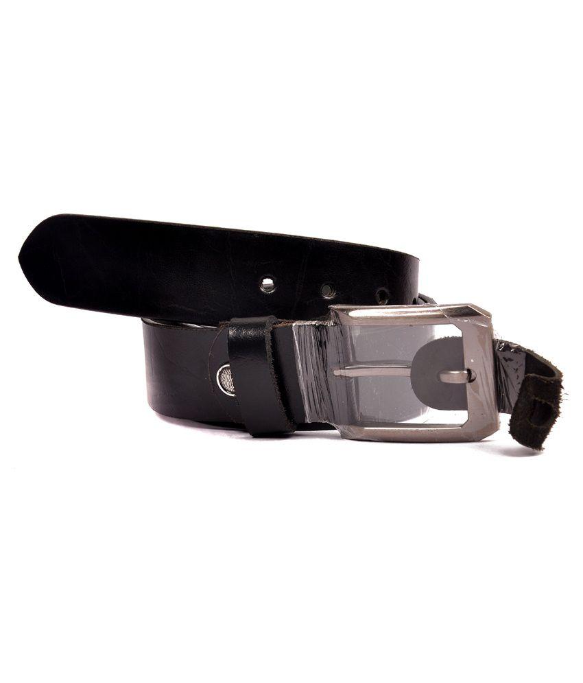 Zakina Black Leather Belt