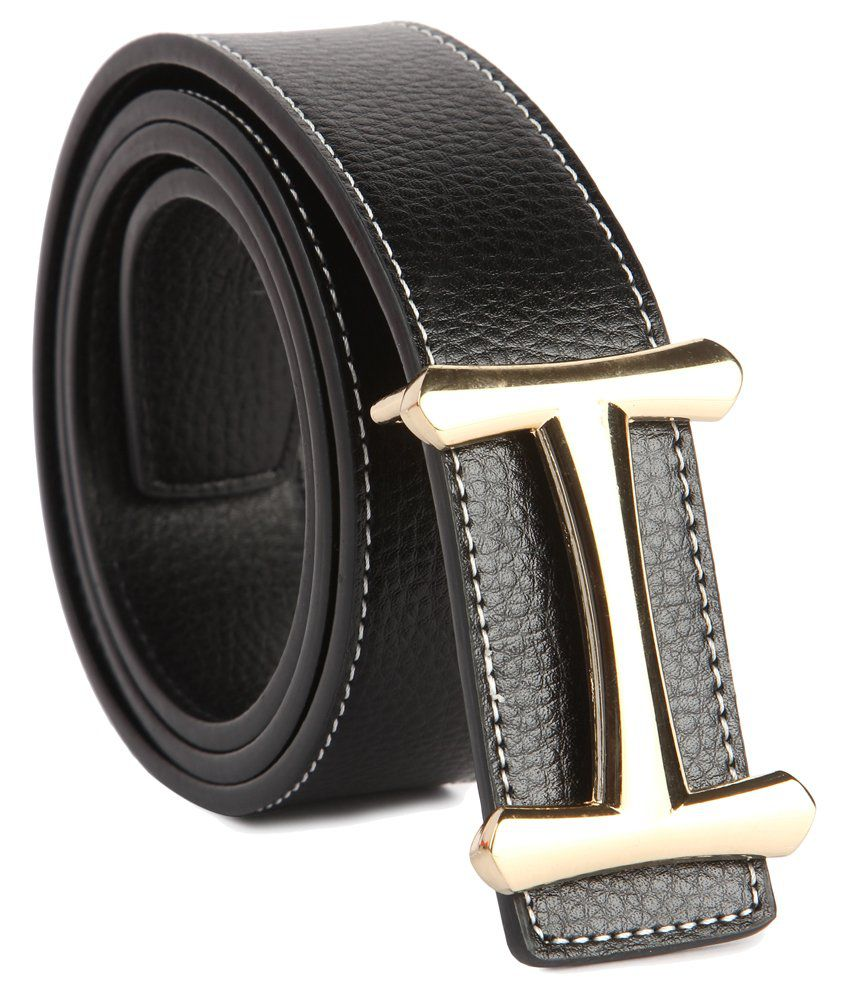 87d23102dbf Hermes Black Casual Belt  Buy Online at Low Price in India - Snapdeal