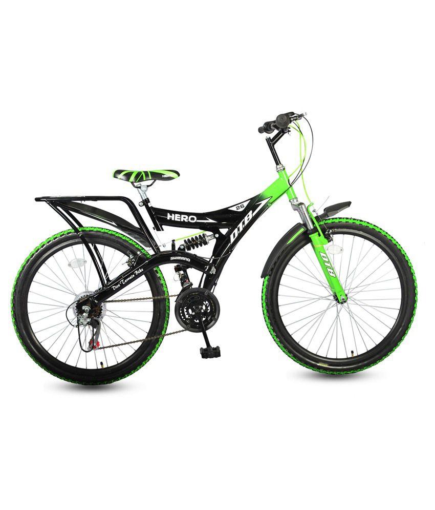 hero black green adult mountain cycle buy online at best price