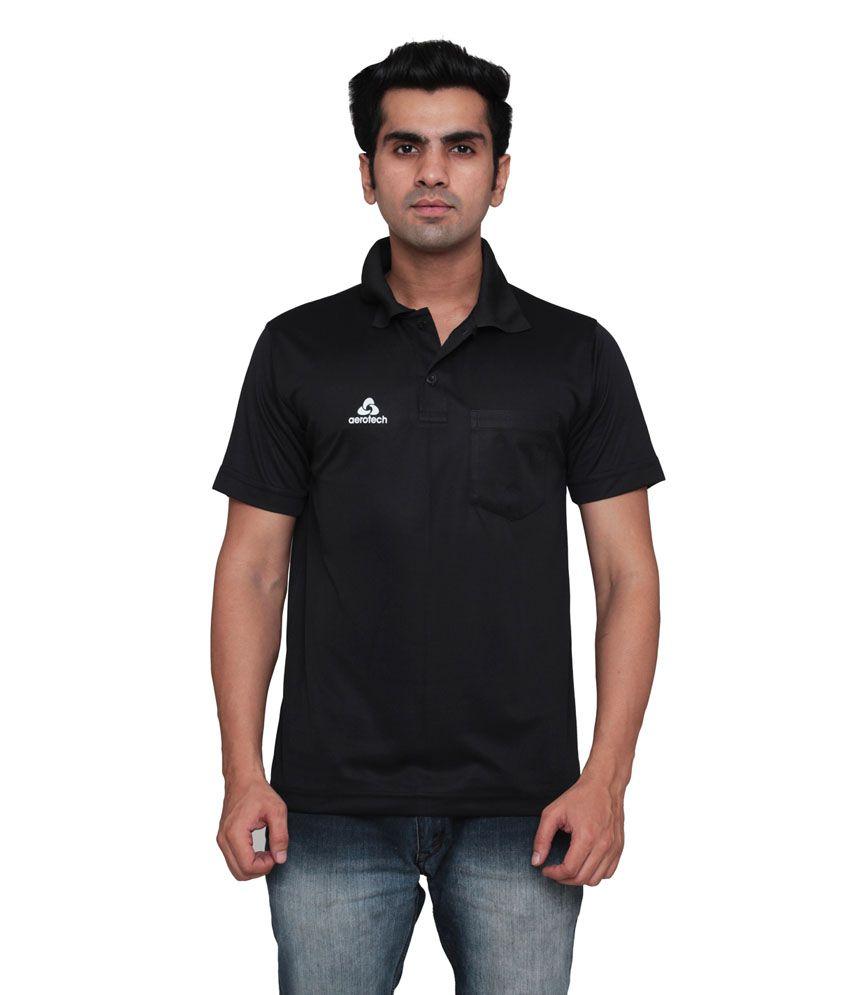 Aerotech Black Polyester T-Shirt
