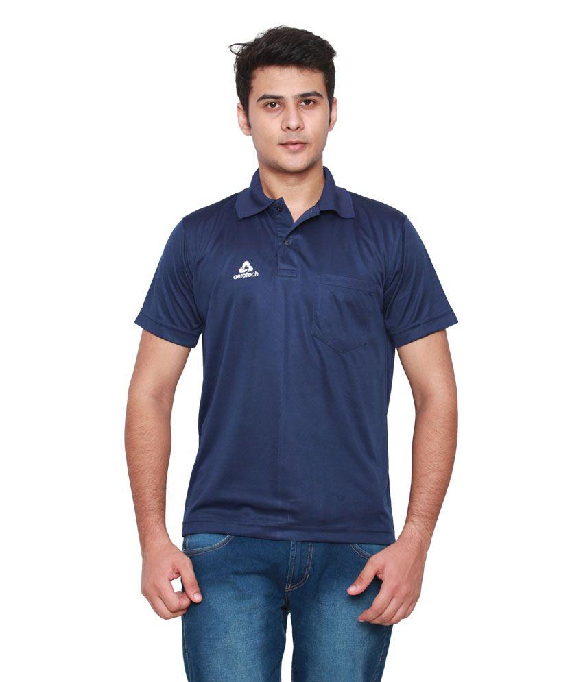 Aerotech Navy Polyester T-Shirt
