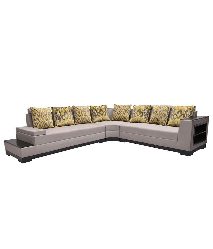 platina 8 seater l shaped sofa rh snapdeal com