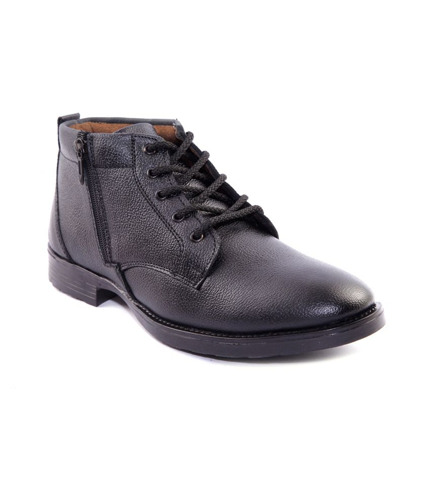 Sole Strings Black Lace Boots