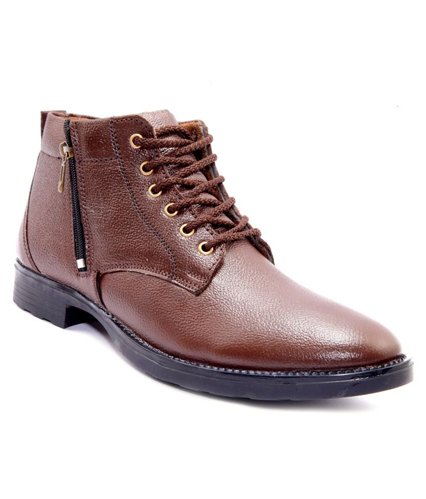 Sole Strings Brown Lace Boots