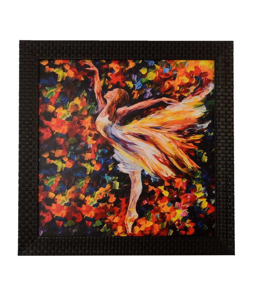eCraftIndia Flying Angel with Satin Matt Texture and Framed UV Art Print
