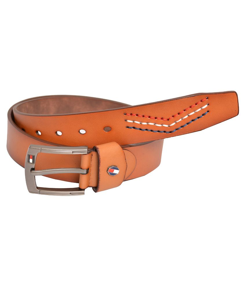 Double F Tan Casual Belt