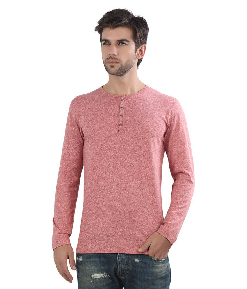 Maniac Red Cotton Blend T Shirt