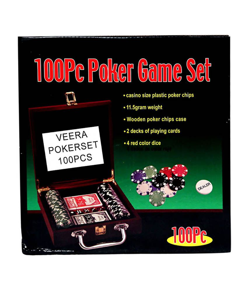 Veera Diced Poker Chipset with Wooden Case (100 chips)