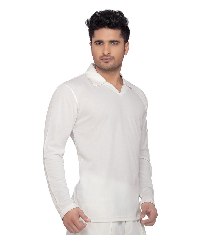 Wolf Full Sleeves Cricket Wear White T Shirt Buy Wolf Full Sleeves
