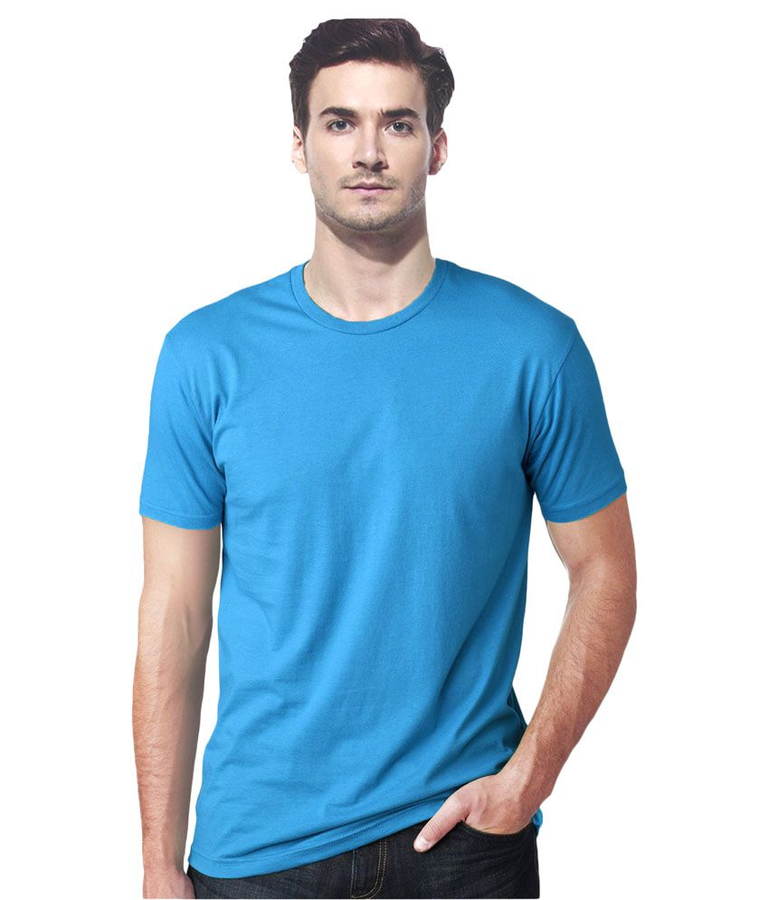 Gallop Blue Cotton T-shirt