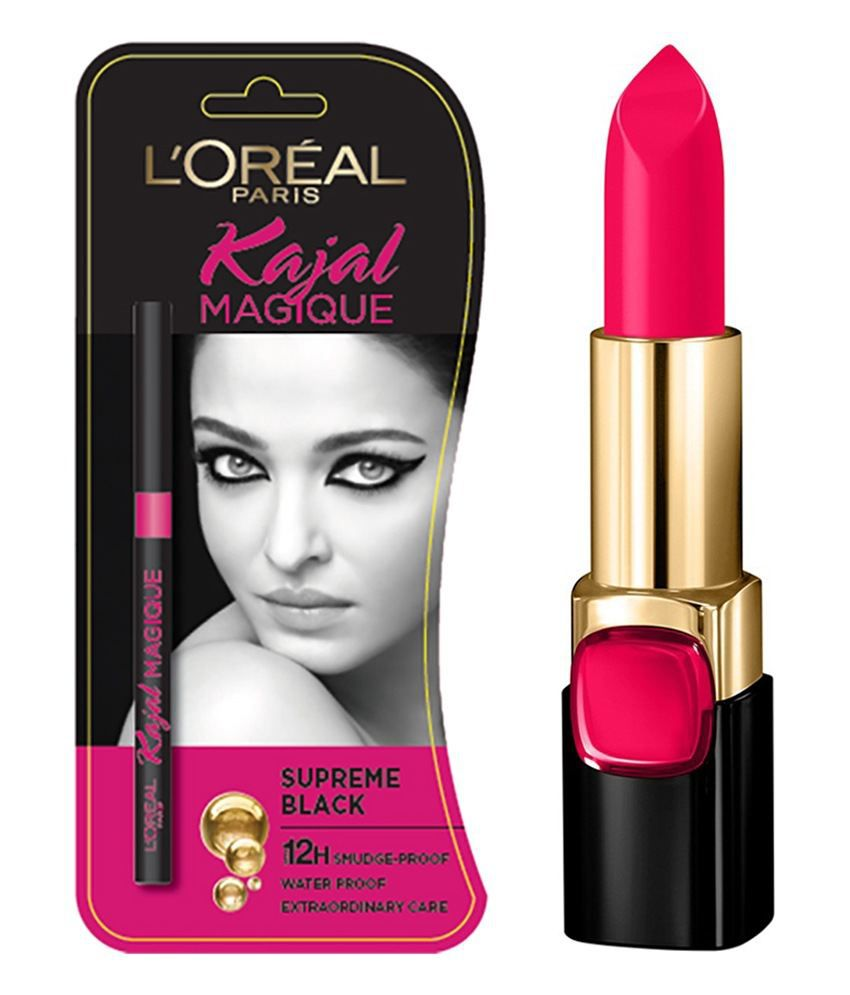 L'Oreal Paris Star Collection Fan Bing Bing CSR2 Pure Vermeil Lipstick 4.2 gm With Free Magique Kajal