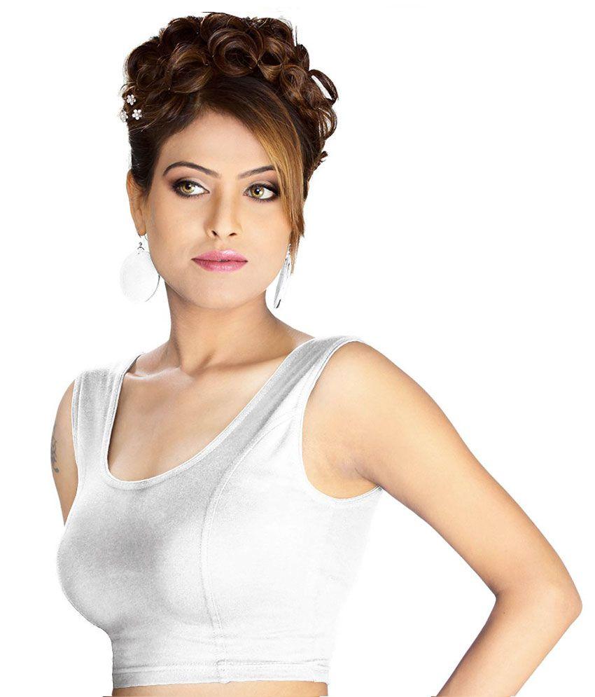 Abhi White Cotton Blouses