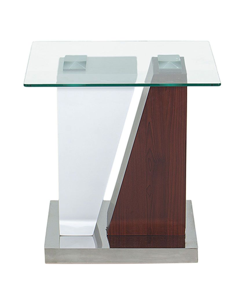 Milan End Table in Gloss Finish