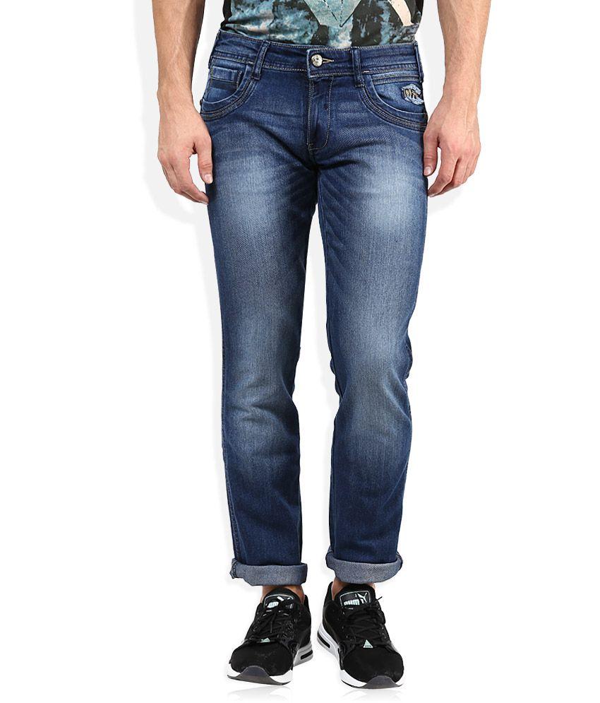 Wrangler Blue Light Wash Slim Fit Jeans