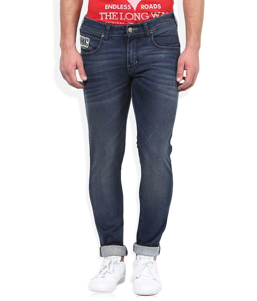Wrangler Blue Dark Wash Skinny Fit Jeans