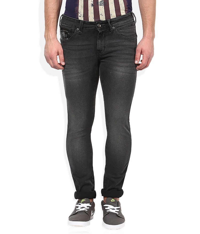 Wrangler Grey Medium Wash Slim Fit Jeans
