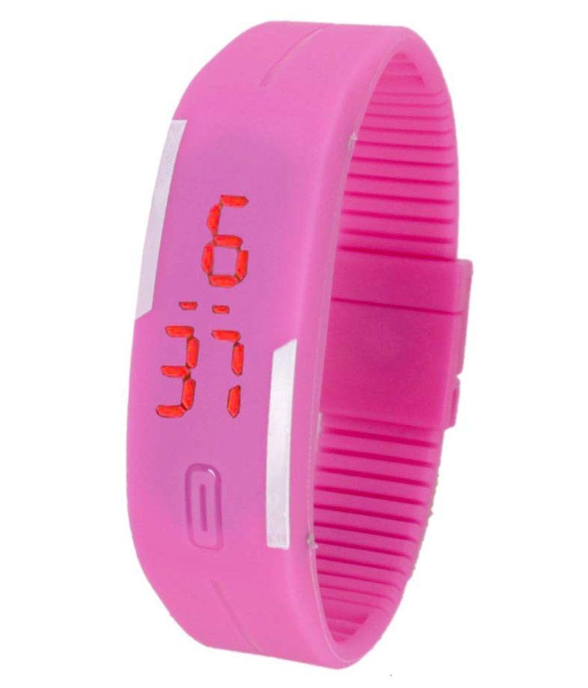 Vencer Stella Pink Plastic Digital Watch