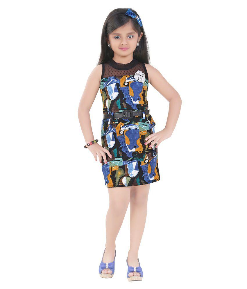 70dab53210c Mint Black Girls Midi Cotton Dress - Buy Mint Black Girls Midi Cotton Dress  Online at Low Price - Snapdeal