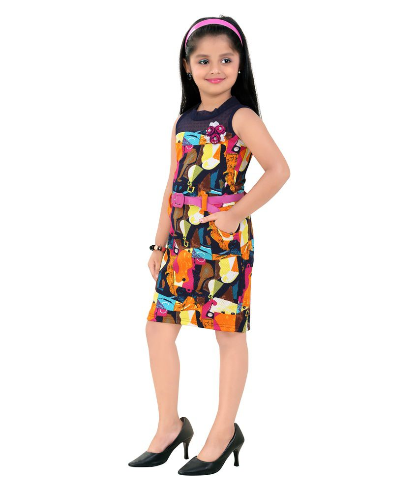 42f70c9bffa Mint Multicolour Girls Midi Cotton Dress - Buy Mint Multicolour Girls Midi  Cotton Dress Online at Low Price - Snapdeal