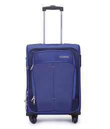 American Touriste Blue Polyester 4 Wheel Trolley