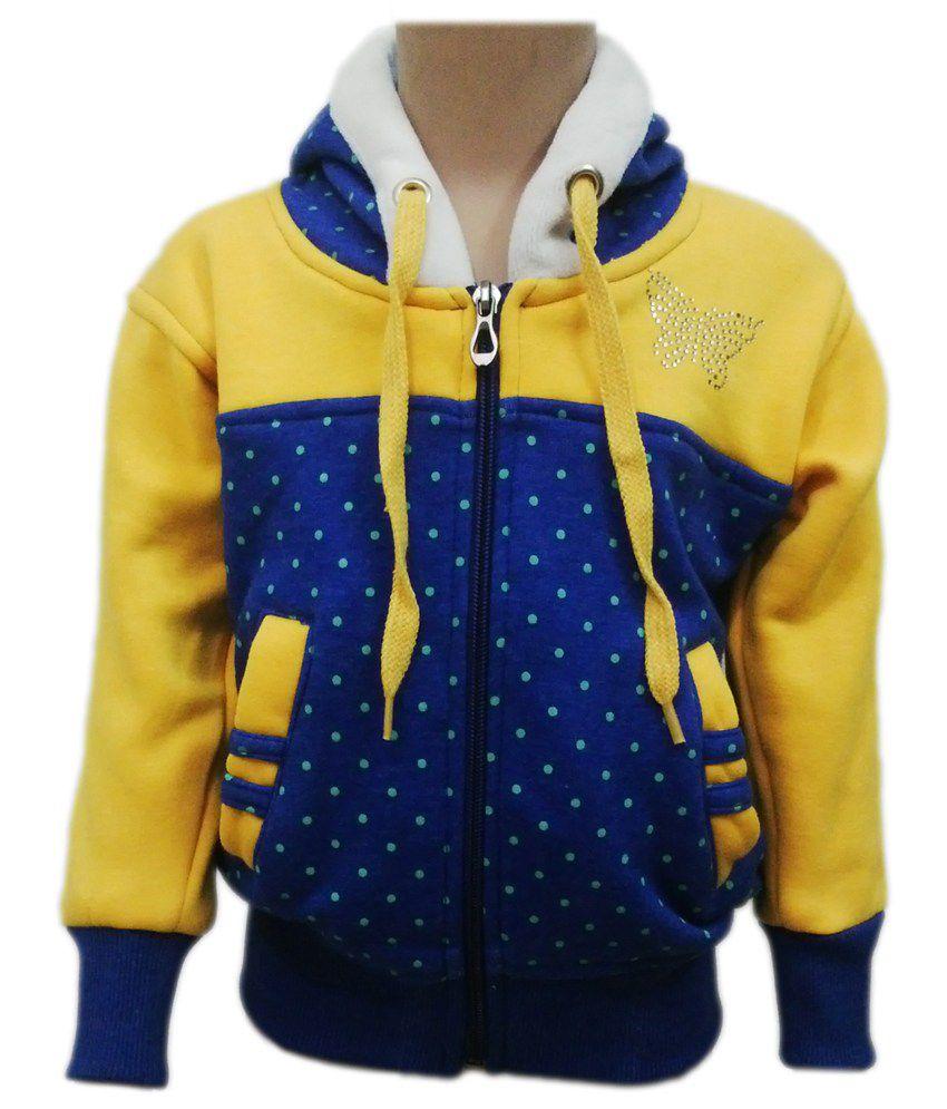 Come In Kids Blue Fleece Sweatshirt With Hood
