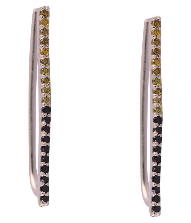 Kuhuk 92.5 Sterling Silver Contemporary Ear Cuffs