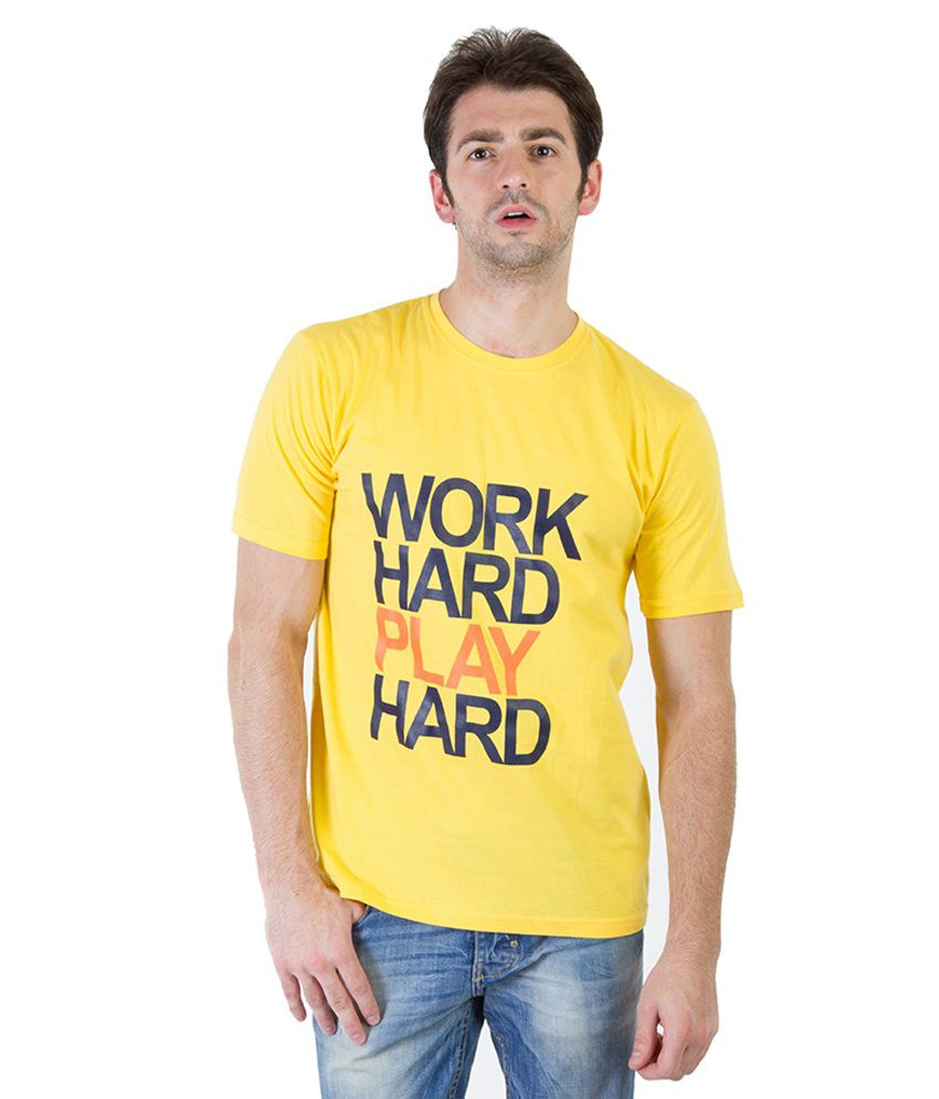 Rick And Masch Yellow Cotton T-shirt