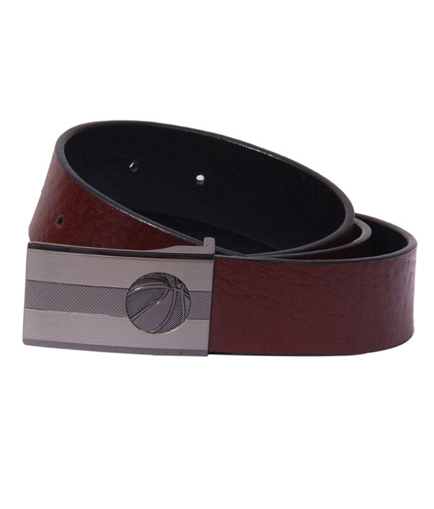 S S Mart Black Leather Formal Belt
