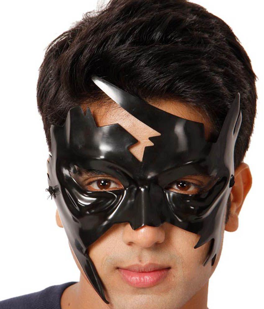 Ptc mart black plastic krrish face mask