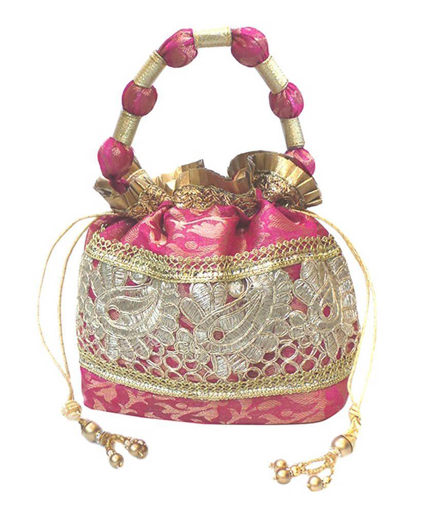 Bhamini Pink Potli Bag