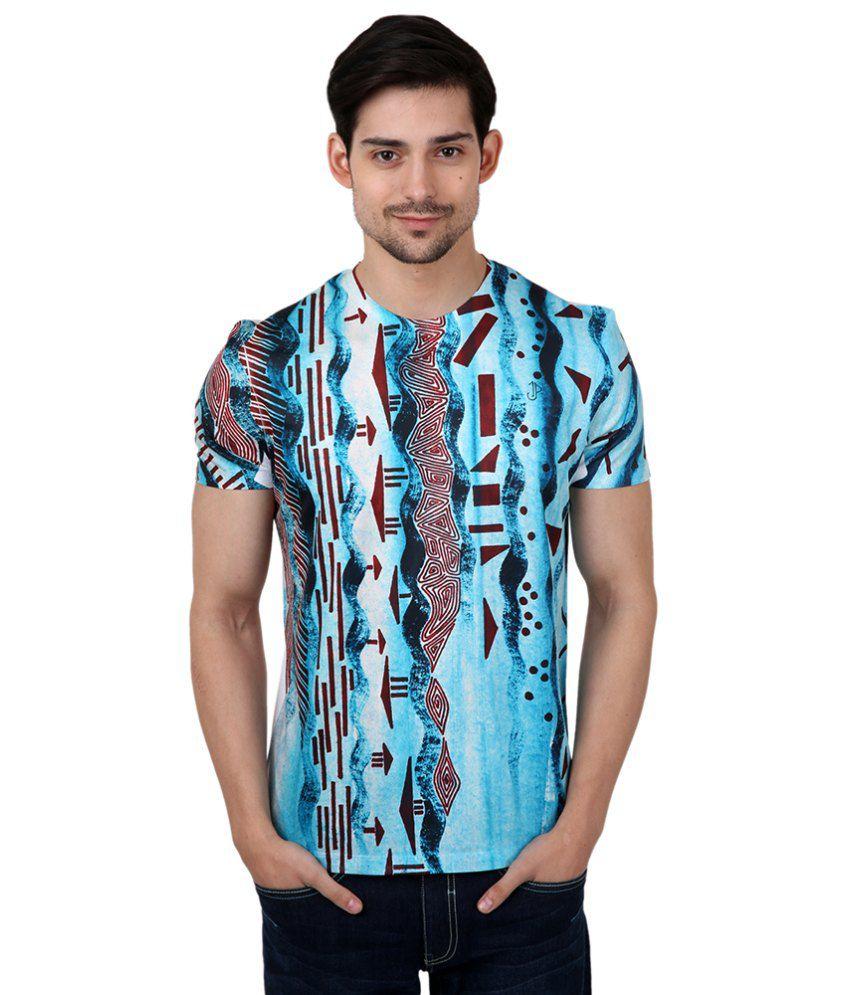 Freecultr Express Blue Poly Blend T-shirt
