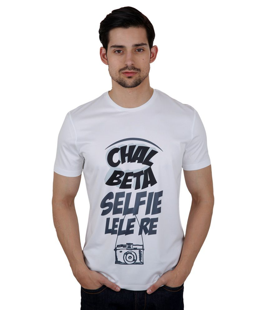 Freecultr Express White Poly Blend T-shirt