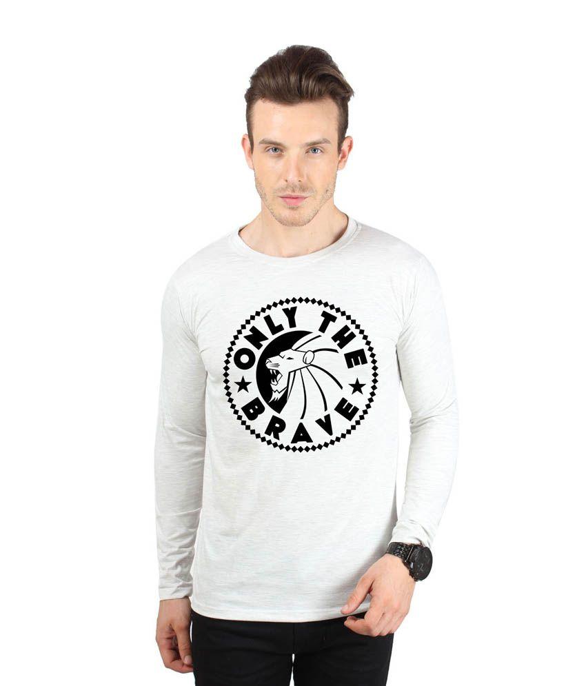 Sayitloud Grey Cotton T-shirt