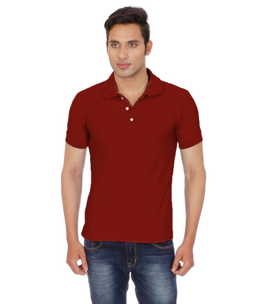 chakravarthi maroon half polo t shirt buy chakravarthi maroon half polo t shirt online at low. Black Bedroom Furniture Sets. Home Design Ideas