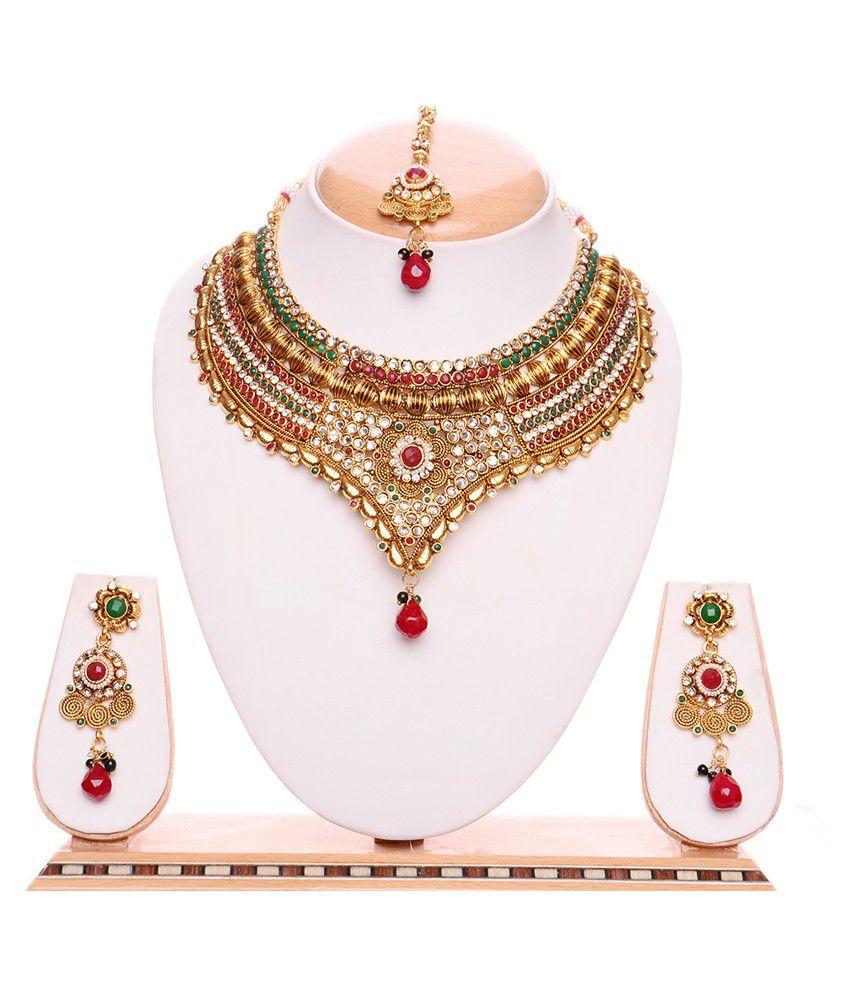 Igenie Gold Casual Hit Bridal Necklace Set