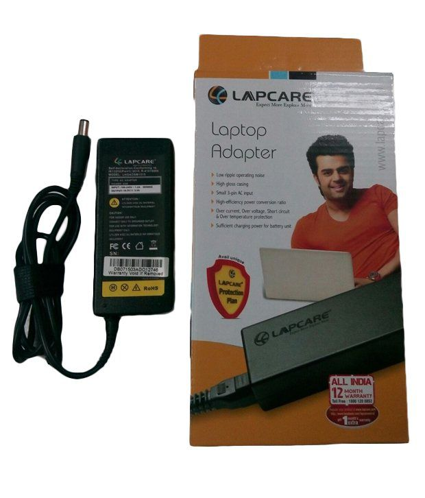 Lapcare Laptop Adapter For Hp Pavilion Dv5-1008tx With Actone Power Cord - Black