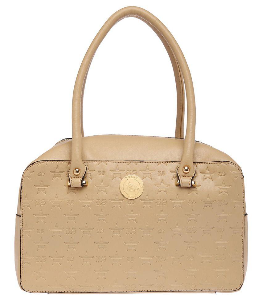 RS By Rock Star  Women's Beige Satchel Handbag