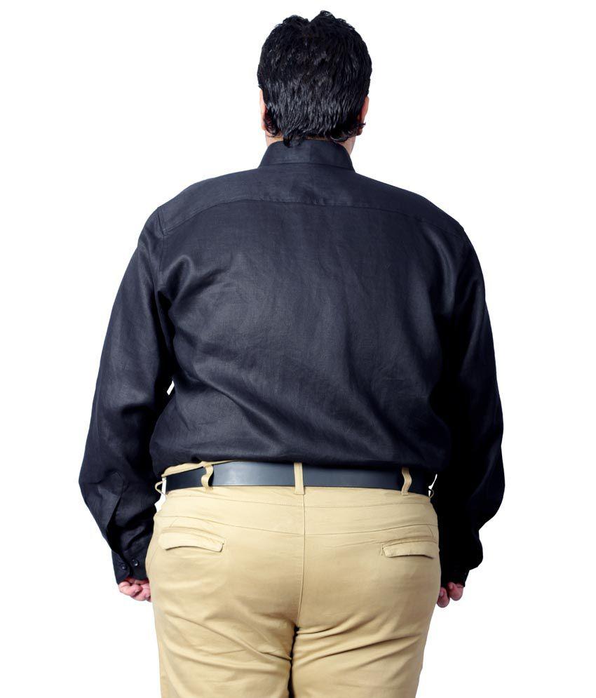 7d14d926d1bc8 Xmex Black Partywear Linen Shirt - Buy Xmex Black Partywear Linen ...