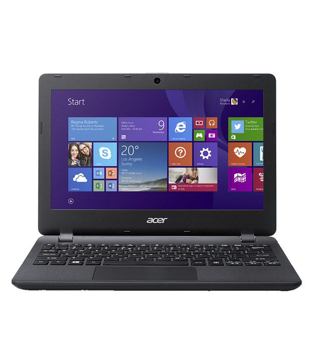 Acer Aspire ES 11 ES1-131-C8RL Notebook (NX.MYKSI.009) (Intel Celeron- 2GB RAM- 500 GB HDD- 29.5 cm (11.6) - Window 10) (Diamond Black)